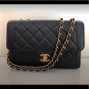 Chanel Black Vintage Framed Quilted Classic Flap